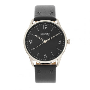 Simplify The 6300 Leather-Band Watch - Black - SIM6303