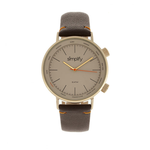Simplify The 3300 Leather-Band Watch - SIM3305