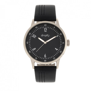 Simplify The 5700 Leather-Band Watch - Black - SIM5702