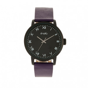 Simplify The 4200 Leather-Band Watch - Purple - SIM4207