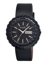 Load image into Gallery viewer, Simplify The 2100 Leather-Band Ladies Watch w/Date - Black/Silver - SIM2108