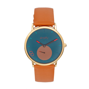 Simplify The 7200 Leather-Band Watch - Light Brown - SIM7204
