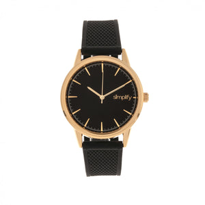 Simplify The 5200 Strap Watch - Rose Gold/Black - SIM5204