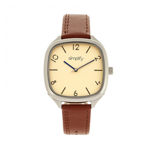 Simplify The 3500 Leather-Band Watch