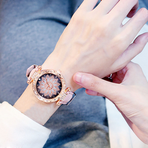 Starry Leather Strap Watch
