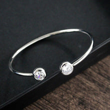 Load image into Gallery viewer, Gem Tipped Torque Bangle