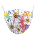 Rainbow Floral Face Mask - Basket Pizzazz
