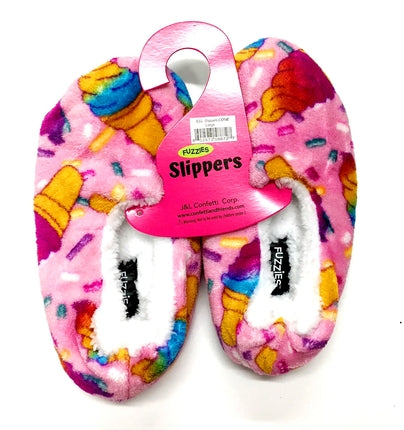 Kids Fuzzies Slippers - Basket Pizzazz
