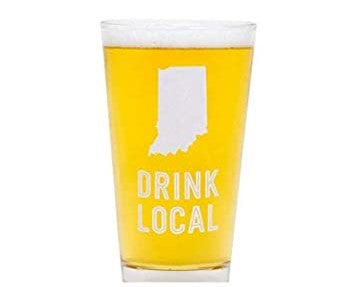 IN Drink Local Pint Glass - Basket Pizzazz