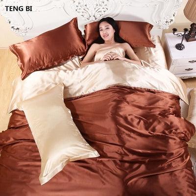 Pure satin silk bedding
