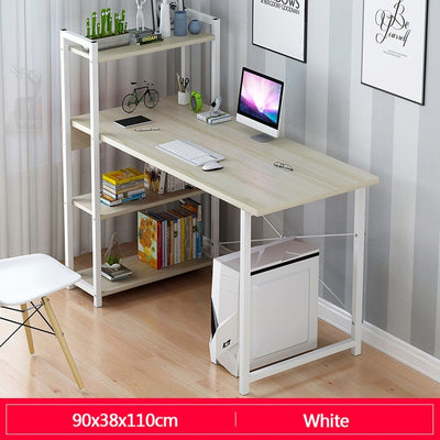 Laptop Desk with Shelves