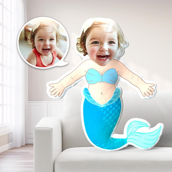 My Face Pillow Custom Face Pillow MiniMe Pillow Personalized Photo Pillow Gift Mermaid Pillow