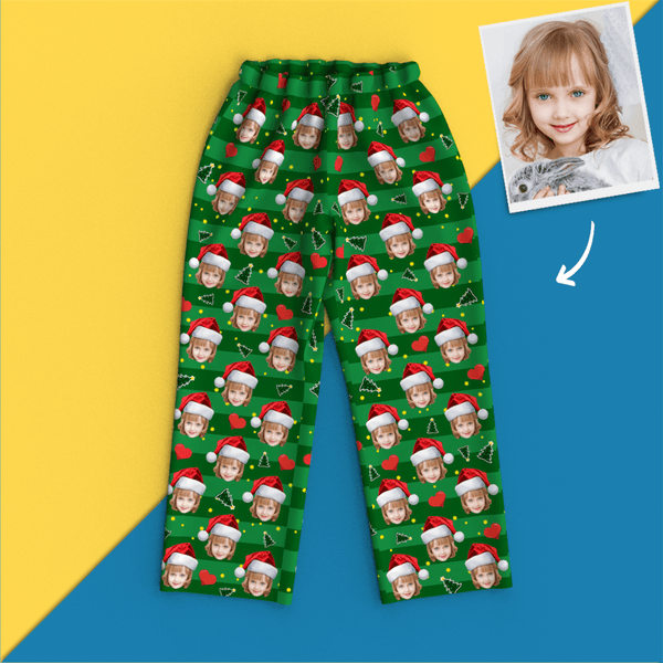 Custom Face Photo Christmas Pajamas - Heart Pyjamas