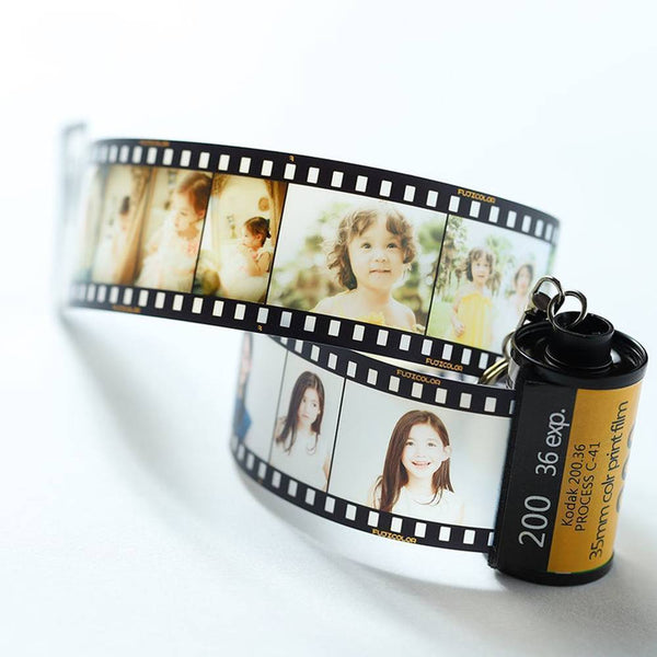 Custom Keyring Roll Film Colorful Camera Roll Keychain Romantic Customized Key chain Gifts