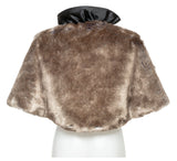 Brown Fluffy Fur Cape