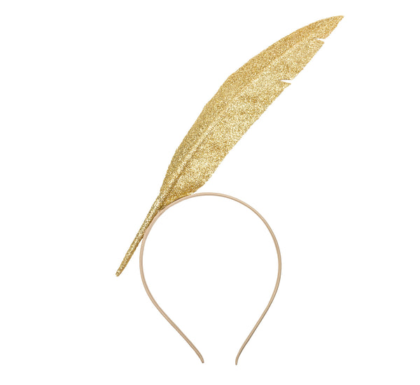 Gold Feather Headpiece