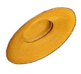 Gold Coloured Straw 'Gaucho' Hat