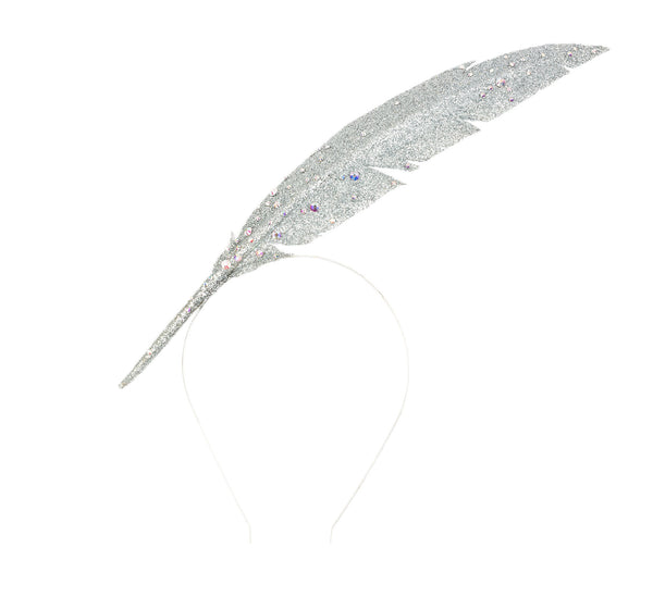 Silver Feather Headpiece