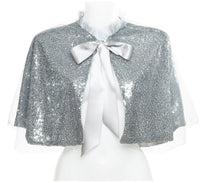Silver Sequin Cape
