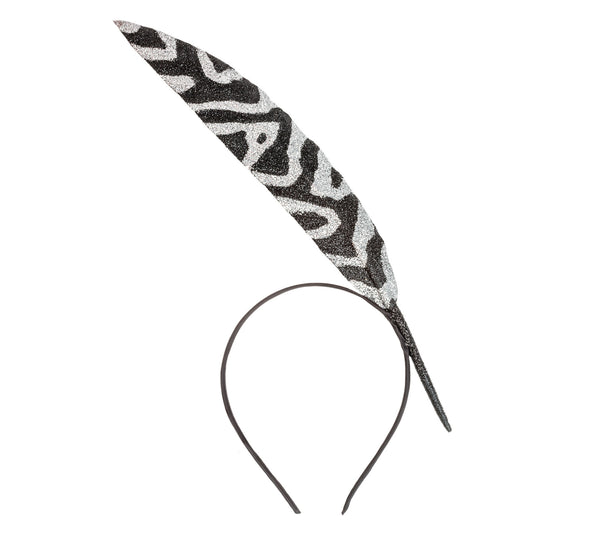 Zebra Feather Headpiece