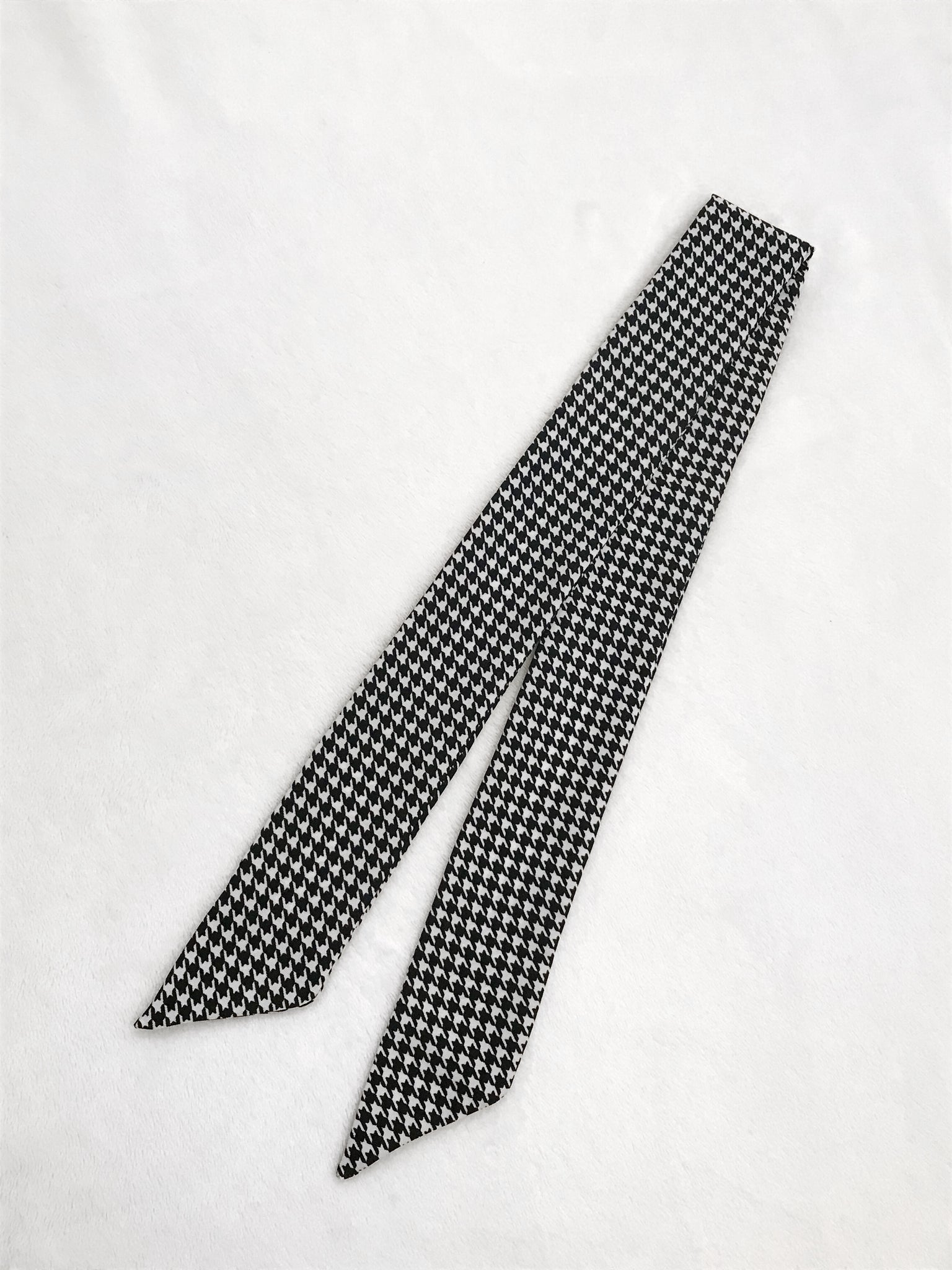 Houndstooth Hair Scarf