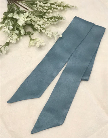 Baby Blue Shimmery Hair Scarf