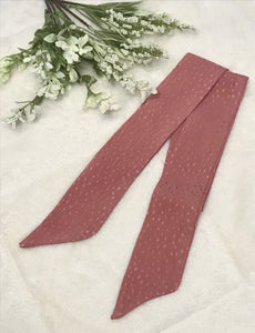 Coral Pink Speckled Hair Scarf