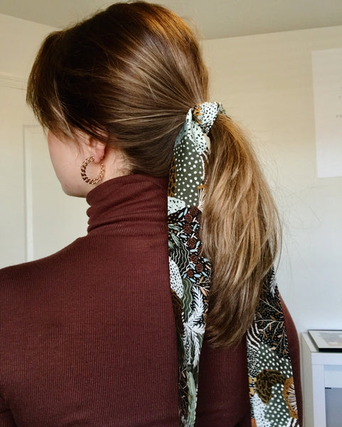Funky Abstract Hair Scarf