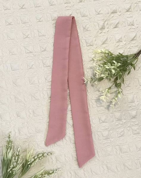 Dusty Rose Pink Hair Scarf