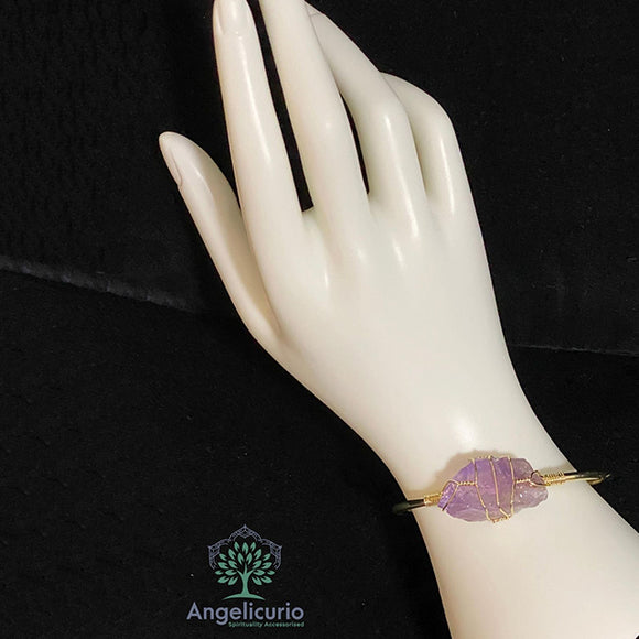 Irregular Shape Bangle Gold Color Wire