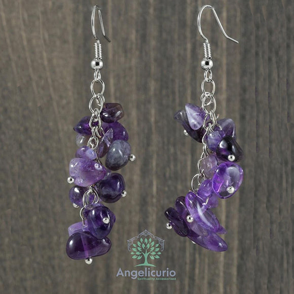 Chipped Stone Drop Dangle Earring