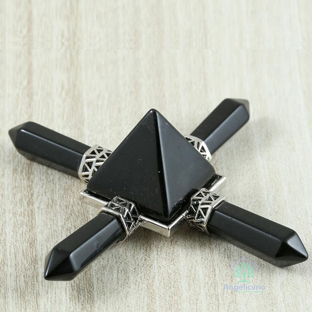 4 Point Pyramid Natural Gem Stone Energy Generator