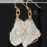 Irregular Shape Drop Earring Gold Color Wire