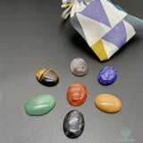 Chakra Oval Gem Stone Set for Career
