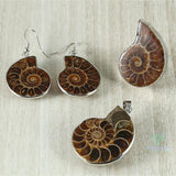 Ammonite Fossil Jewellery Set
