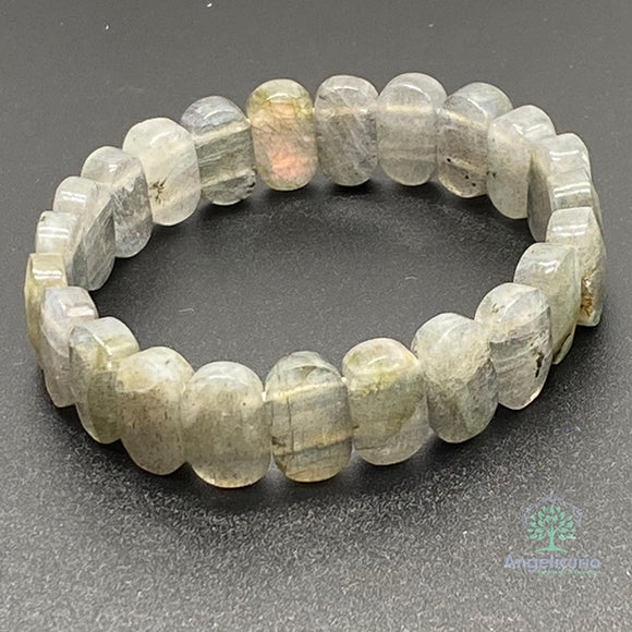 LABRADORITE BRACELET LARGE BEADS 7MMX14MM