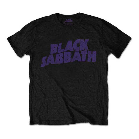 Black Sabbath Distressed Purple Logo T-Shirt