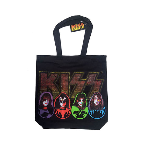 Kiss Logo & Faces Tote Bag - GIG-MERCH.com