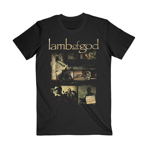 Lamb Of God Album Collage T-shirt - GIG-MERCH.com