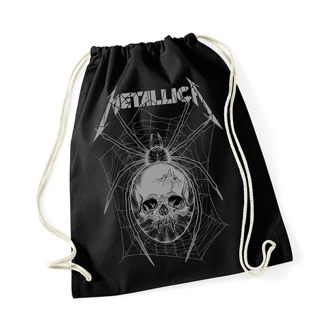 Metallica Grey Spider Drawstring Bag