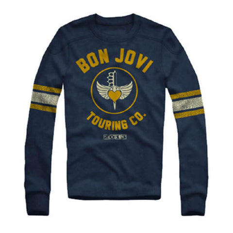 Bon Jovi Retro Long Sleeve T-Shirt - GIG-MERCH.com