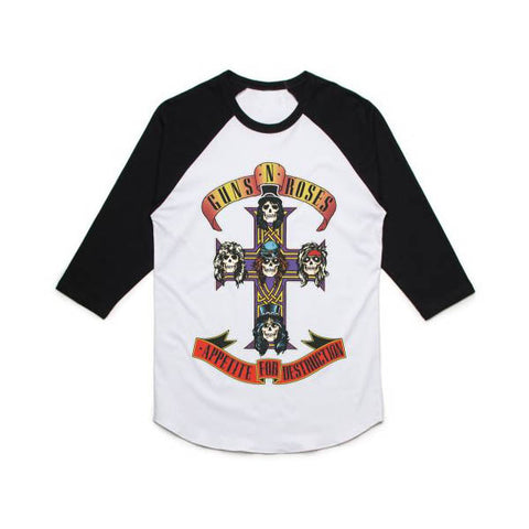 Guns N' Roses Cross Raglan T-Shirt - GIG-MERCH.com