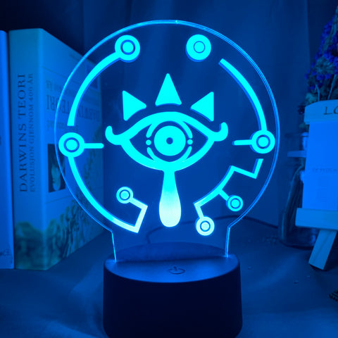 Legend of Zelda Sheikah Eye 3D LED Lamp 16 Colors
