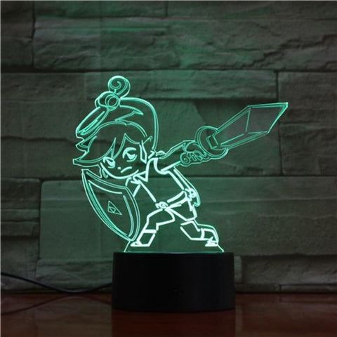 Toon Link 3D LED Lamp 16 Colors