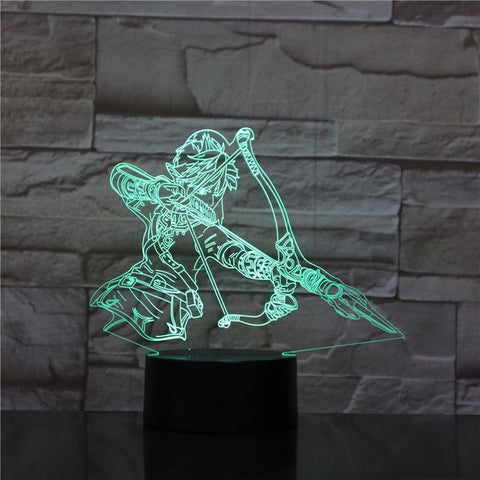 The Legend of Zelda Breath of the Wild 3D LED Lamp 16 Colors