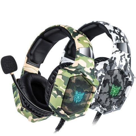 ONIKUMA K8 Gaming Headset - Wired Stereo With Microphone and LED Lights.
