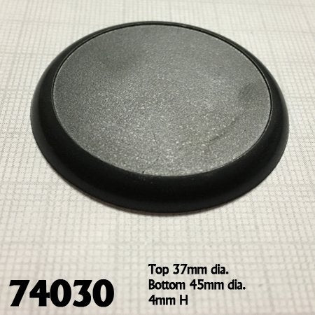 45mm Round Lipped Bases (10)