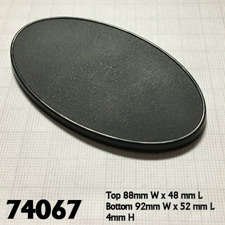 90mm x 52mm Oval Base (10)