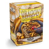 Matte Gold Dragon Shields (100)