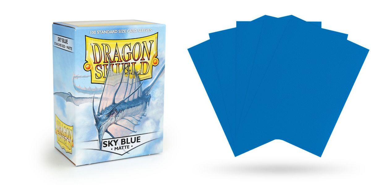 Matte Sky Blue Dragon Shields (100)